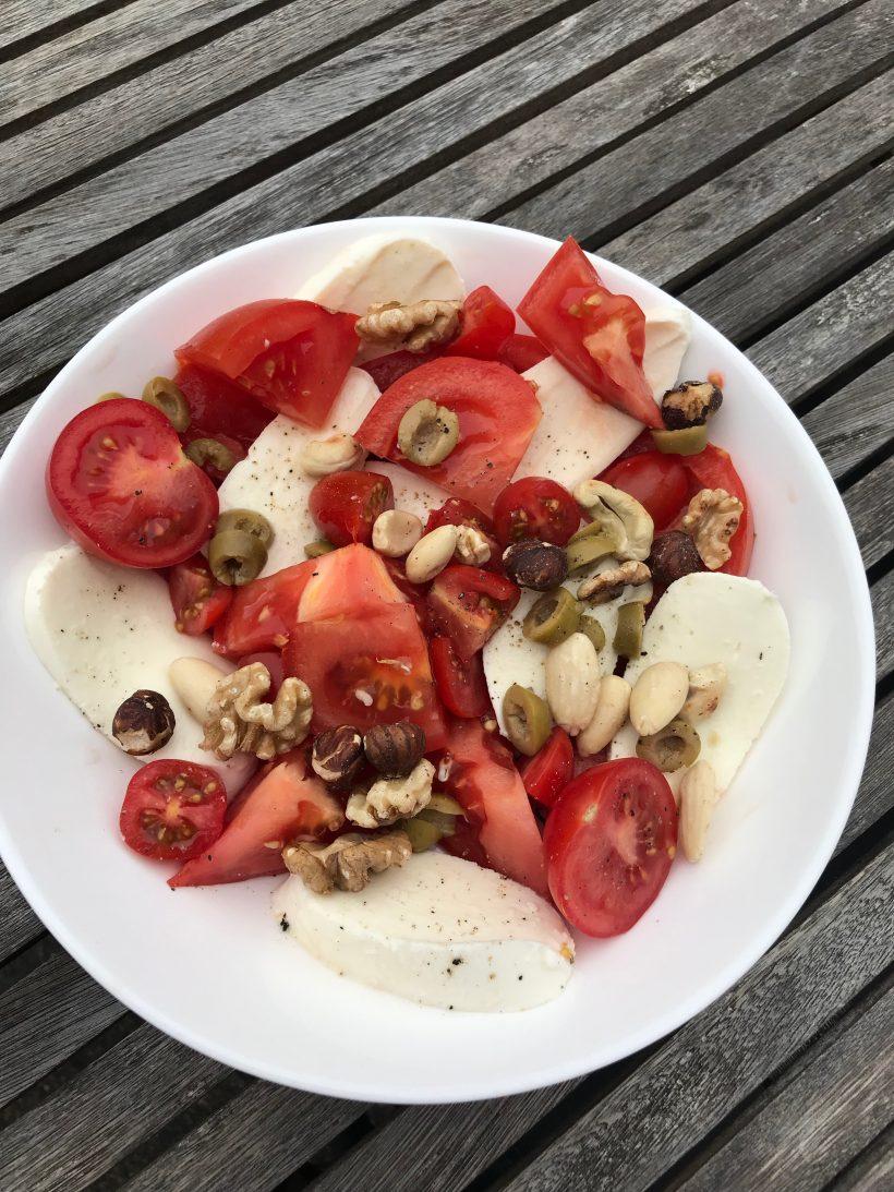 Tomatensalade met mozzarella